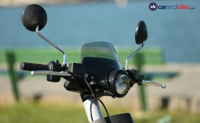 mahindra genze electric scooter front headlamp