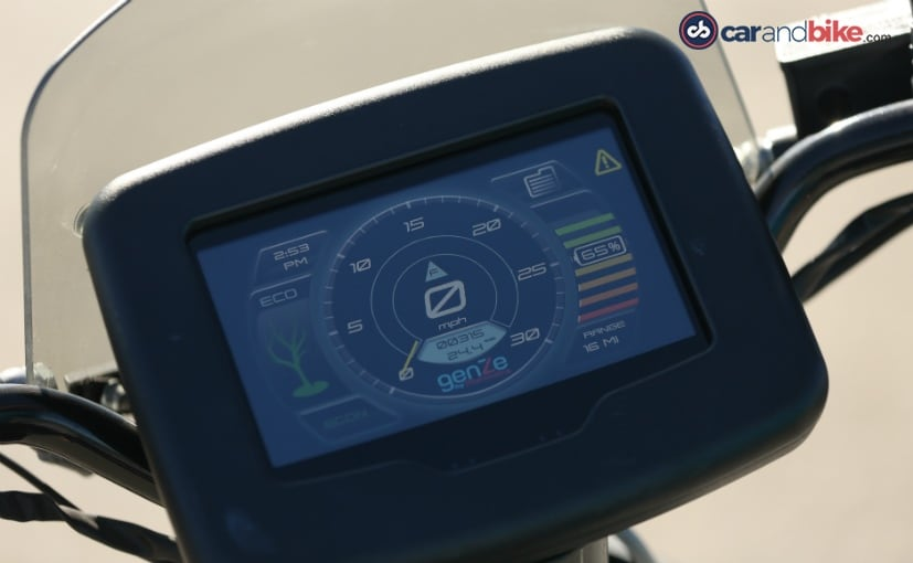 mahindra genze electric scooter lcd screen