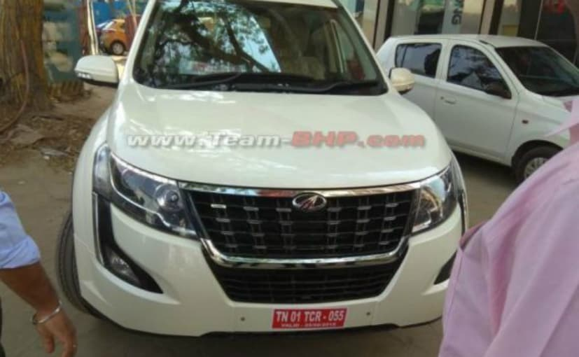 SPIED: Upcoming Mahindra XUV500 Facelift Spotted With Absolutely No Disguise