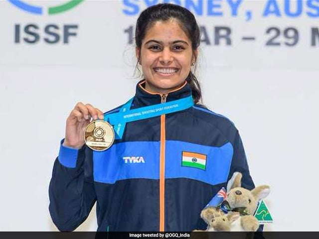 Manu Bhaker Wins Gold In Womens 10-Metre Air Pistol At ISSF Junior WC