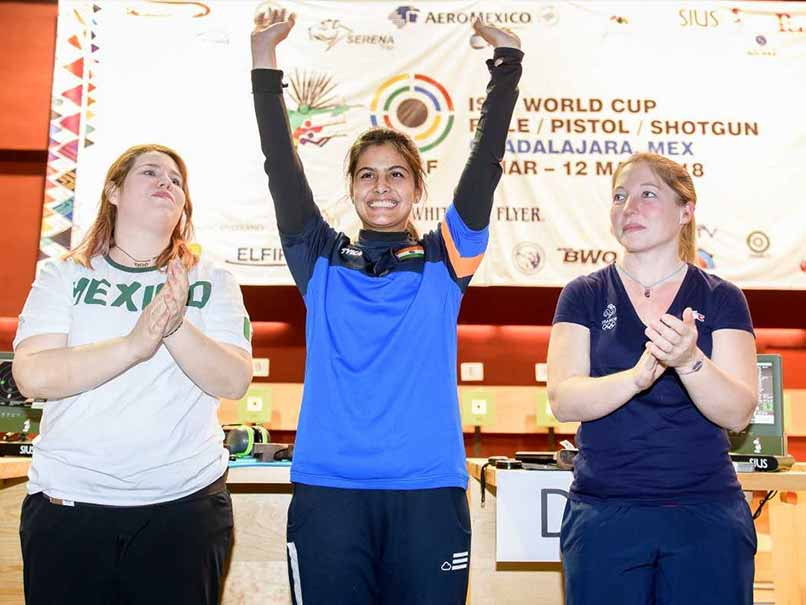 Manu Bhaker strikes two gold medals at shooting World Cup