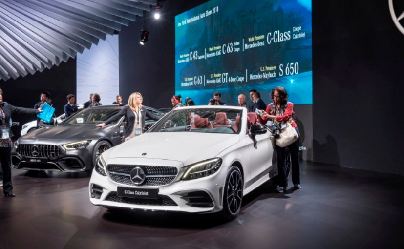 New York Auto Show MercedesBenz CClass Cabriolet Makes - Mercedes car show 2018