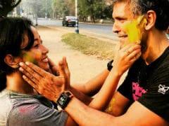 Holi Posts From Milind Soman And Girlfriend Ankita. See Pics