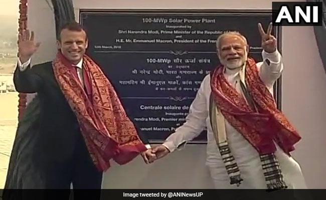 PM Modi, French President Macron Inaugurate UP's Biggest Solar Power Plant