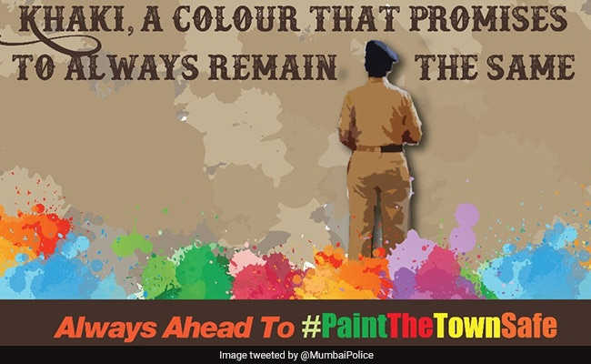 On Holi, A Message From Mumbai Police: Paint The Town Safe