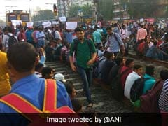 30 Mumbai Trains Cancelled As Job-Seekers Sat On Rail Tracks