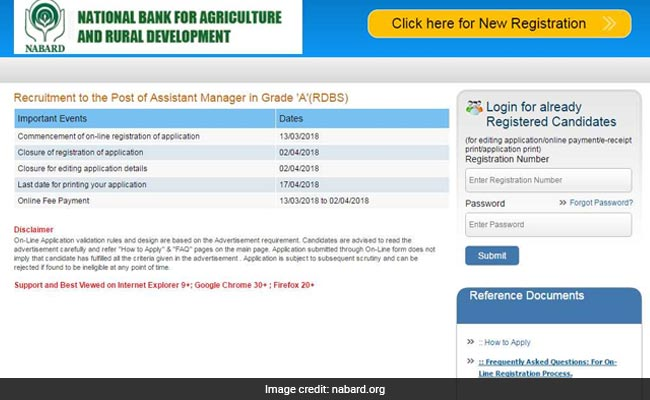 NABARD Assistant Manager Recruitment Begins: 10 Points For Applicants