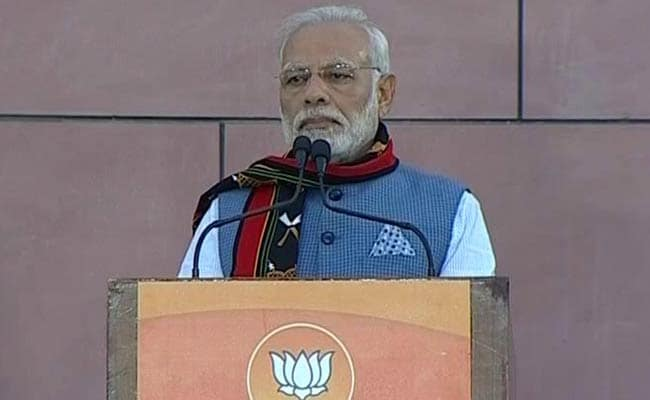 PM Modi Pauses Northeast Victory Speech In Delhi For Azaan