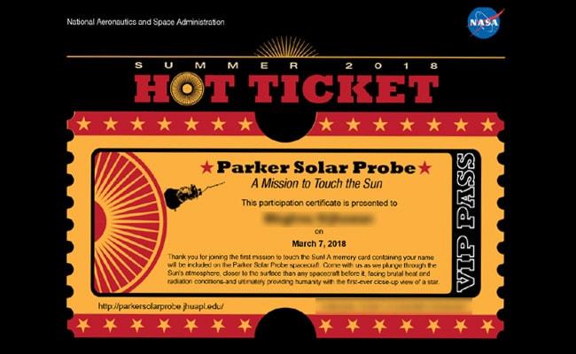 nasa parker solar probe name