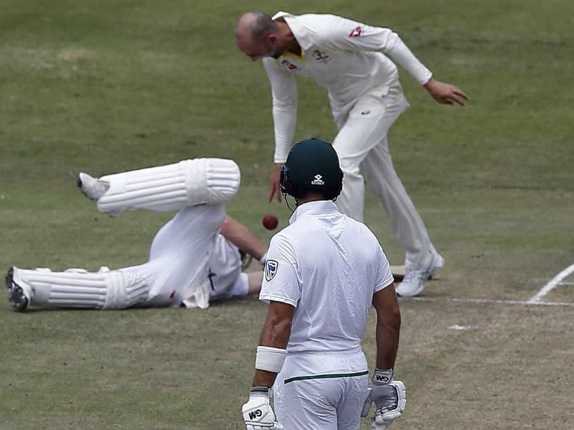Australia's Lyon charged by ICC as Test spirits run over