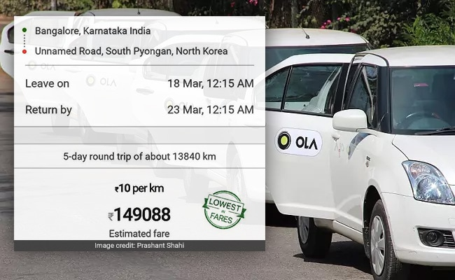 ola bengaluru to north korea