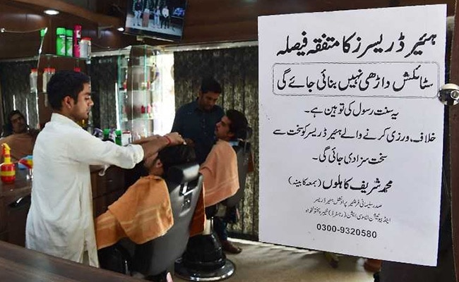 pakistan barbers ban stylish beards afp