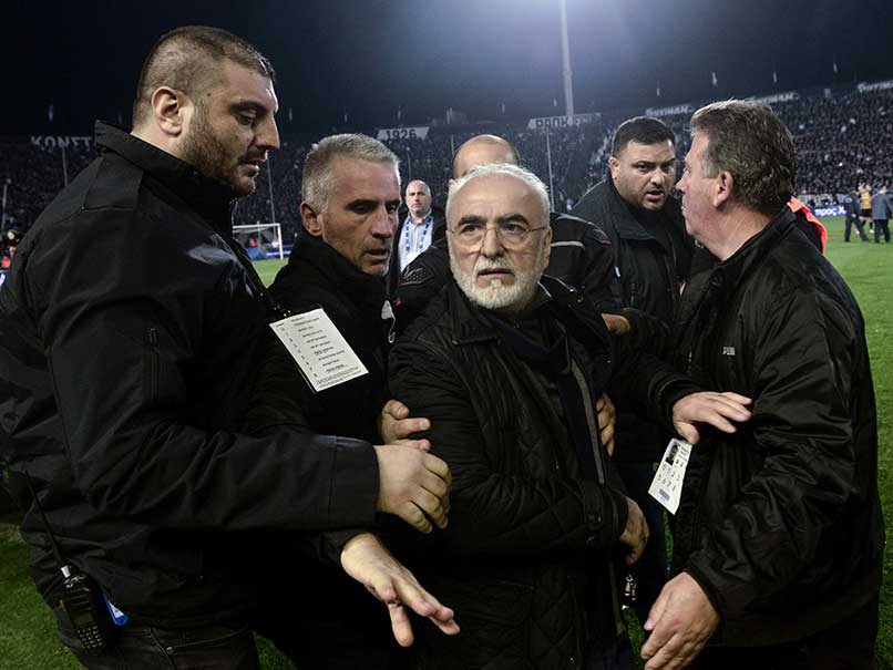 Greek Football Club PAOK Owner Banned For 3 Years Over Pitch Invasion With Gun