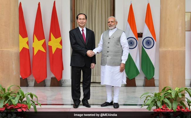 PM Modi held wide-ranging talks with Vietnamese President. Image: @MEAIndia/NDTV