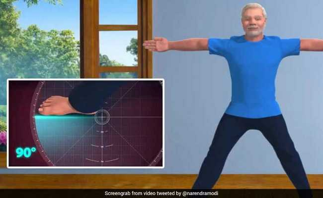 Watch: A 3D Video Of Yoga With PM Modi