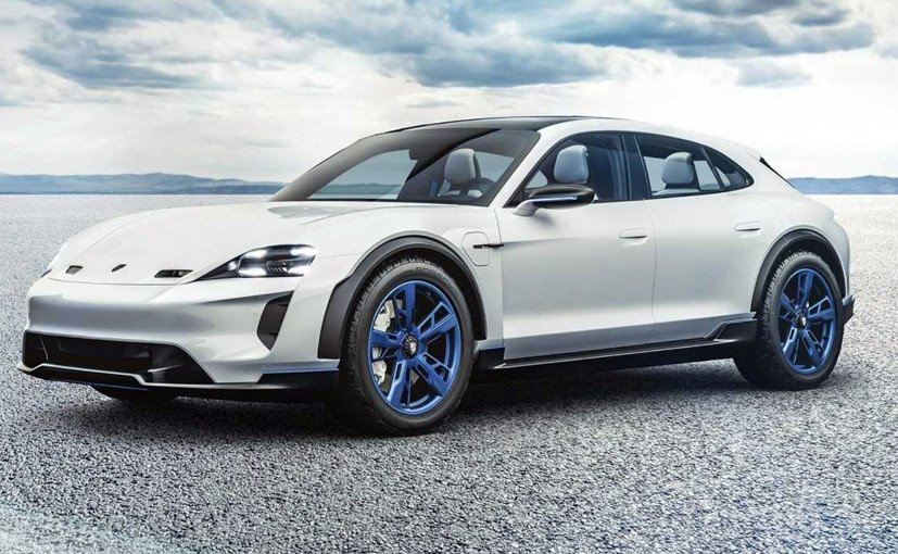 The Porsche Mission E Cross Turismo has a range of 500 km on a single charge