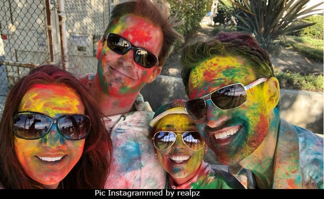Pics: Preity Zinta And Gene Goodenough Play Holi At Beach Party In Los Angeles