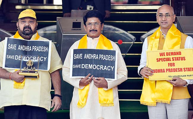 Andhra Pradesh Row LIVE: 'Major Emotional Issue Of Special Status Not Addressed,' Says TDP Lawmakers