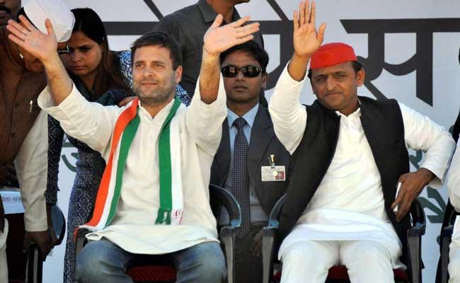 rahul akhilesh rally