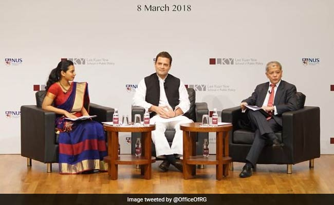 'Atmosphere Of Intimidation': Rahul Gandhi's Attack On BJP In Singapore