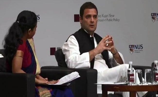 सिंगापुर में राहुल ने मोदी सरकार पर साधा निशाना, कहा- BJP लोगों को बांटने की राजनीति कर रही