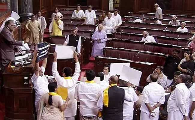 Rajya Sabha Adjourned After Parties Protest, No Business Transacted