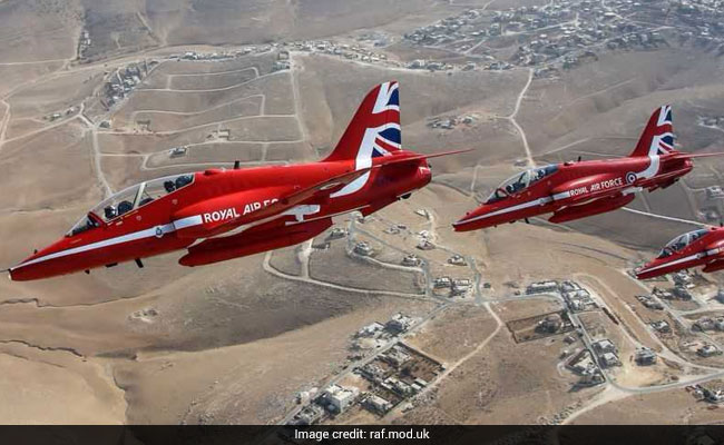 Red Arrows jet crashes at RAF base in Holyhead with two onboard