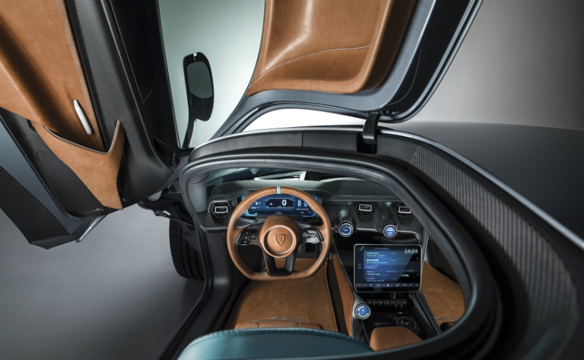 rimac c two electric hypercar interior
