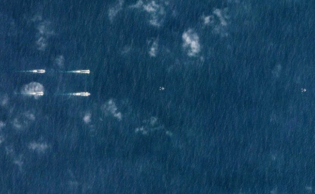 Satellite Images Reveal Show Of Force By Chinese Navy In South China Sea