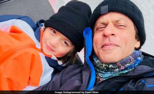 Gauri Khan's Pic Of 'Snowmen' Shah Rukh And AbRam Is A Hit