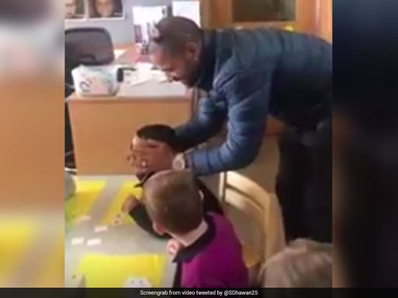 Watch: Shikhar Dhawan Surprises Son In School, His Reaction Is Priceless