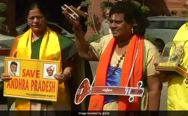 TDP Leader's Parliament Cosplay: Narada, Cattle Herder, Lord Krishna
