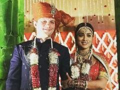 Shriya Saran's Wedding Wardrobe - Pink Silk, Bridal Red And A Gold <i>Saree</i>