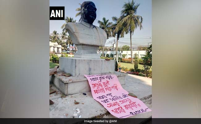BJP Icon Syama Prasad Mookerjee's Bust Damaged In Kolkata, 7 Arrested