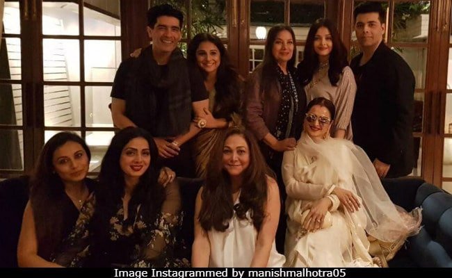 A Throwback From Sridevi's Birthday - These Were Her Close Friends