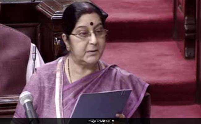 sushma swaraj rajya sabha