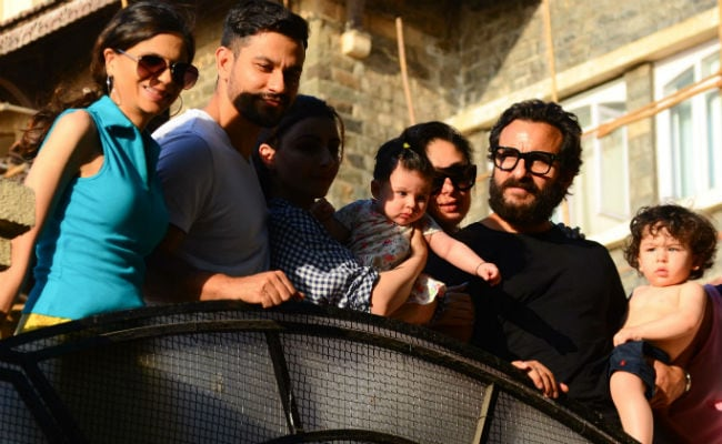 Taimur Ali Khan, Dressed For Summer, Appears For The Cameras With Cousin Inaaya And Family