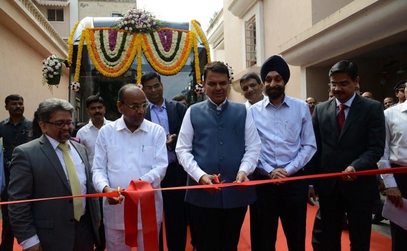 Devendra Fadnavis Hands Over 25 Tata Starbus Hybrid-Electric Buses To MMRDA