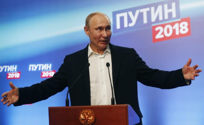 Putin winning presidential polls with 73.9% of votes
