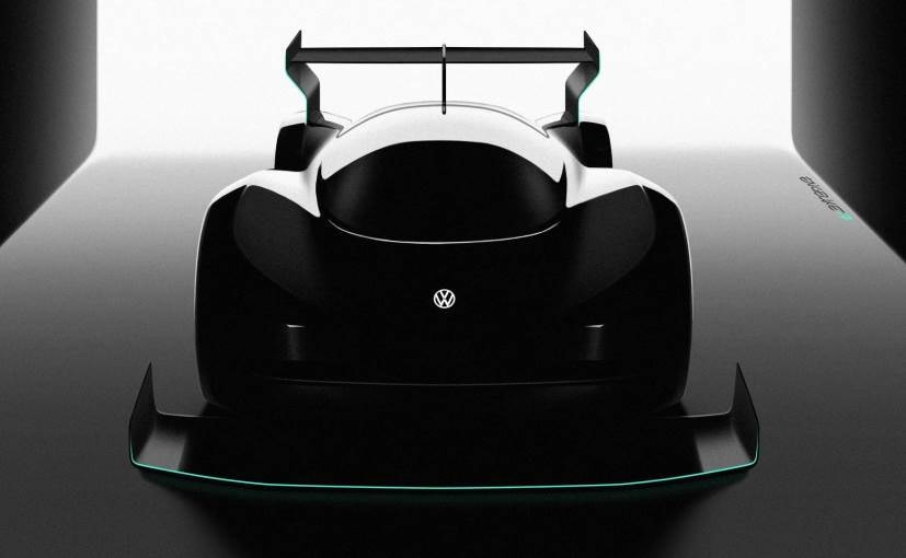 Volkswagen's electric racer comes with a massive splitter up front and a gigantic wing at the back