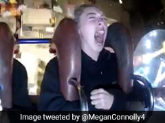 VIDEO: डर के मारे दोस्त के कहने पर बैठ गई झूले पर, चीख-चीखकर मचाया हंगामा