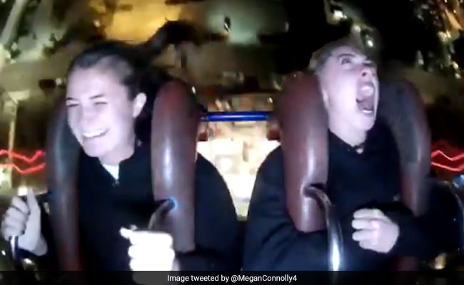 Twitter Is Laughing Hard At This Woman's Meltdown On A Theme Park Ride