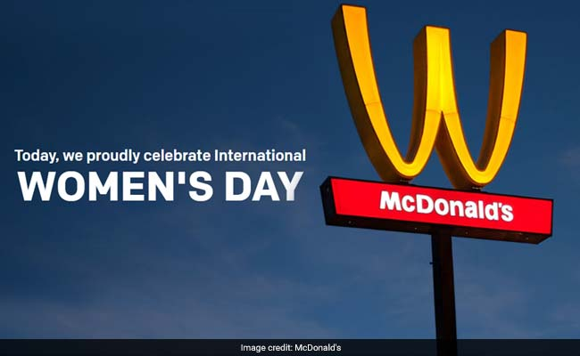International Women's Day: McDonald's Flips Its Iconic Golden Arches Upside Down