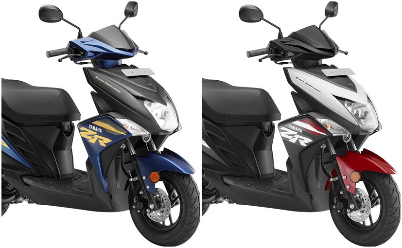 The Yamaha Cygnus Ray ZR now comes in five new colour options