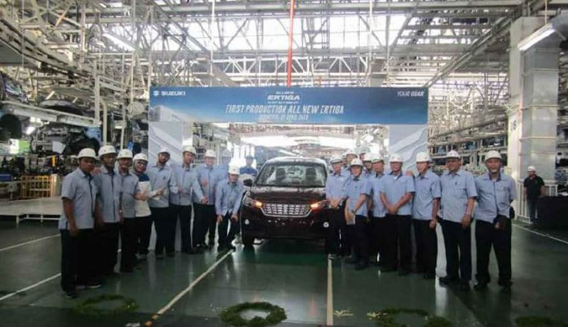 2018 Suzuki Ertiga Commences Production In Indonesia