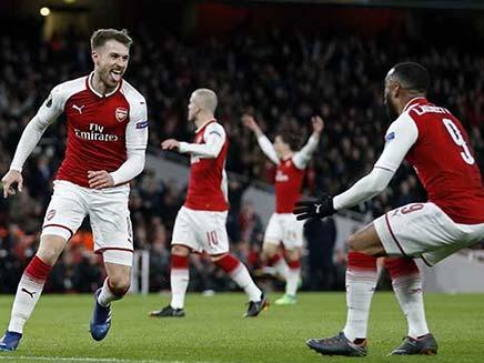 Europa League: Arsenal Hammer CSKA Moscow To Move Closer To Semi-Finals