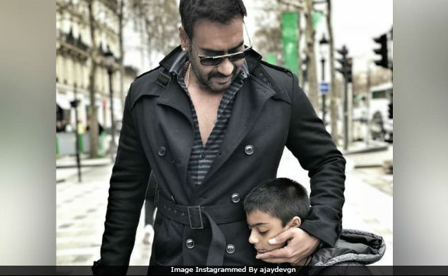 Ajay Devgn Reportedly Trolled For Smoking Next To Son Yug