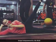 Alia Bhatt Won't Skip Workout Despite Injured Shoulder. Dedication Level - Maximum