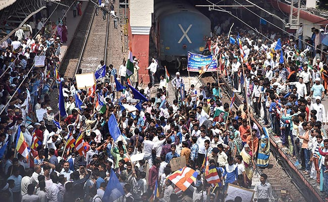 'Urgent Help Needed': Passengers Tweet As Dalit Protesters Block Tracks, Halt Trains