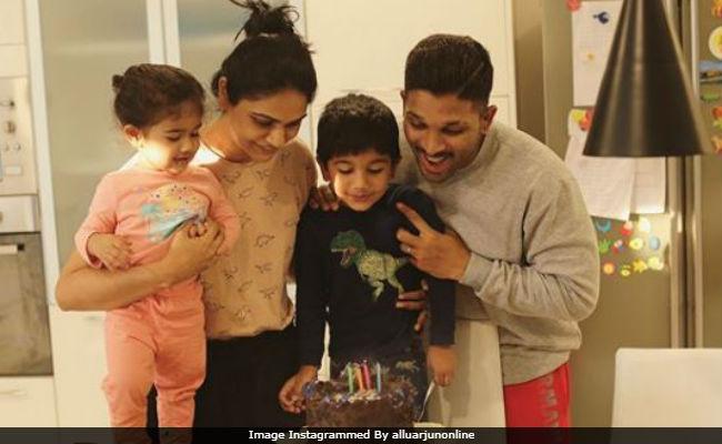 Allu Arjun And Wife Sneha Celebrate Son Ayaan's Birthday. Pic Is Viral